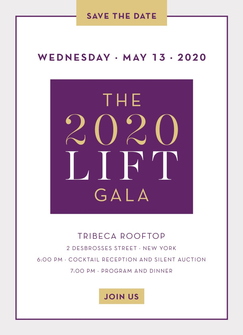 Join us at the 2019 LIFT Gala on May 15 2019